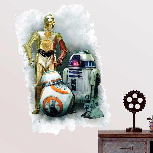 Vinilos Decorativos: Vinilo R2D2, C3PO y BB