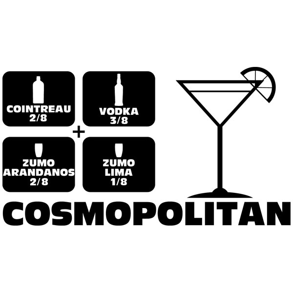 Vinilos Decorativos: Cocktail Cosmopolitan