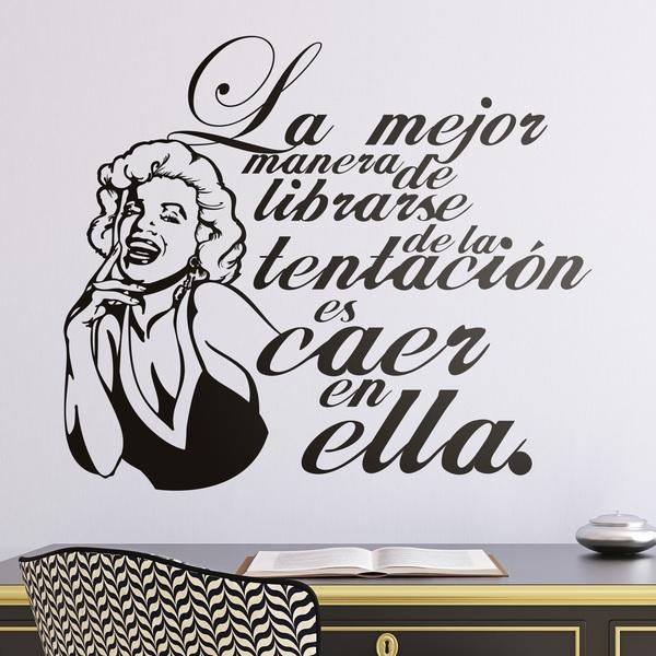 Vinilos Decorativos: Marilyn Monroe Tentación