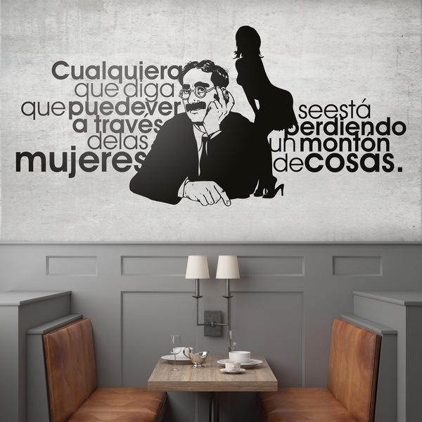 Vinilos Decorativos: Groucho Mujeres