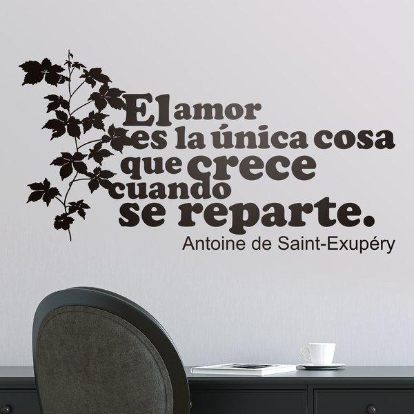 Vinilos Decorativos: Amor Crece Exupery
