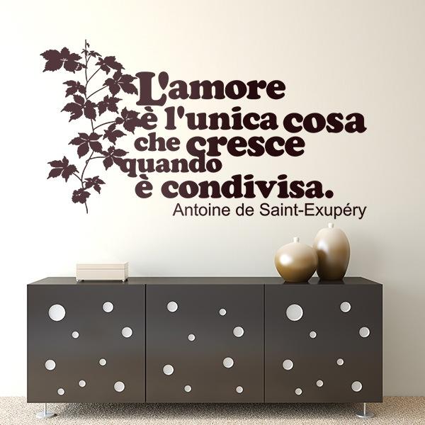 Vinilos Decorativos: L amore è l unica cosa che cresce quando...