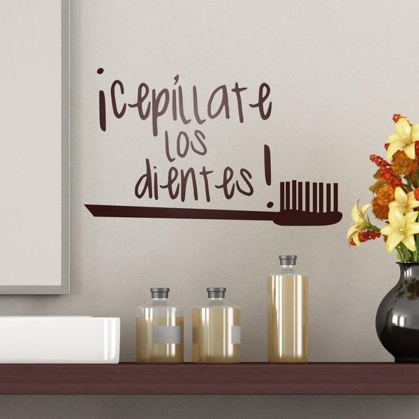 Vinilos Decorativos: Cepillar Dientes