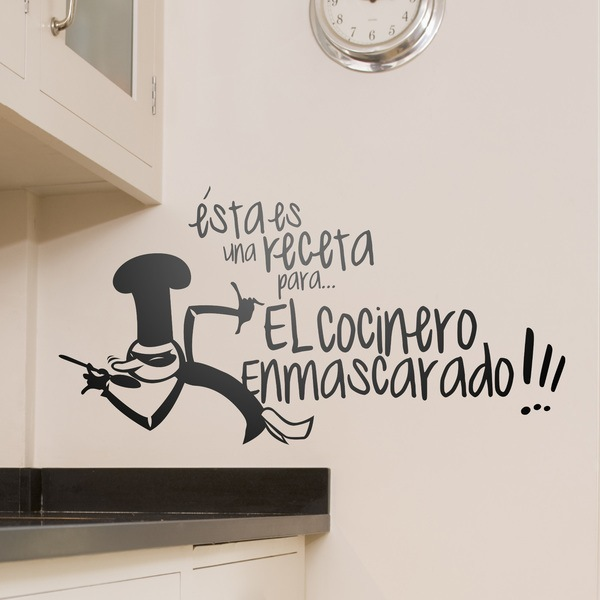 Vinilos Decorativos: Receta Cocinero Enmascarado