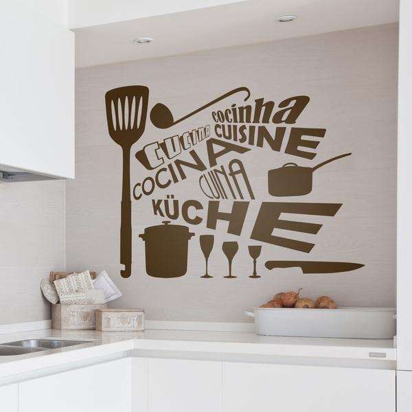 Vinilos Decorativos: Cocina Idiomas
