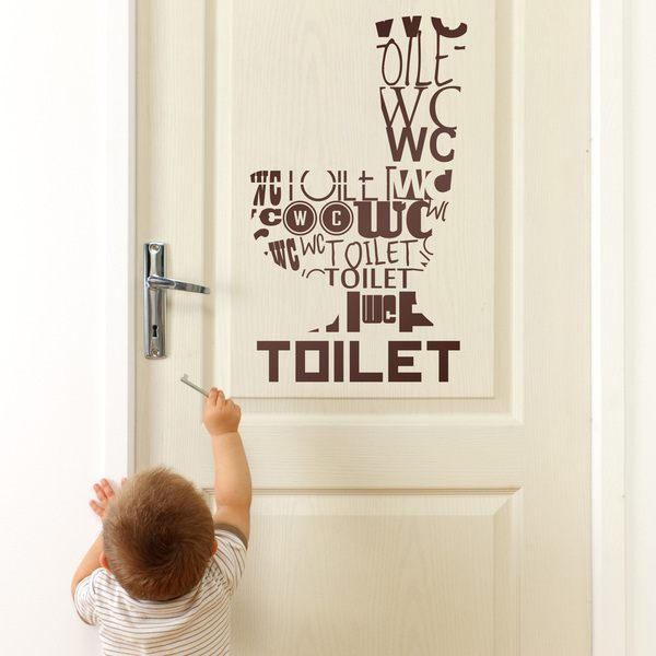 Vinilos Decorativos: Toilet Idiomas