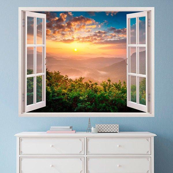 Vinilos Decorativos: Paisaje puesta de sol