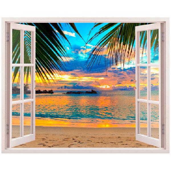Vinilos Decorativos: Puesta de sol en la playa