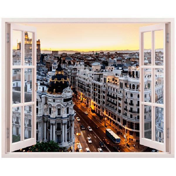 Vinilos Decorativos: Gran Vía en Madrid