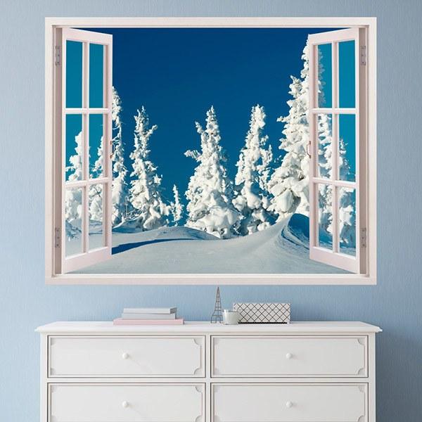 Vinilos Decorativos: Bosque nevado 2