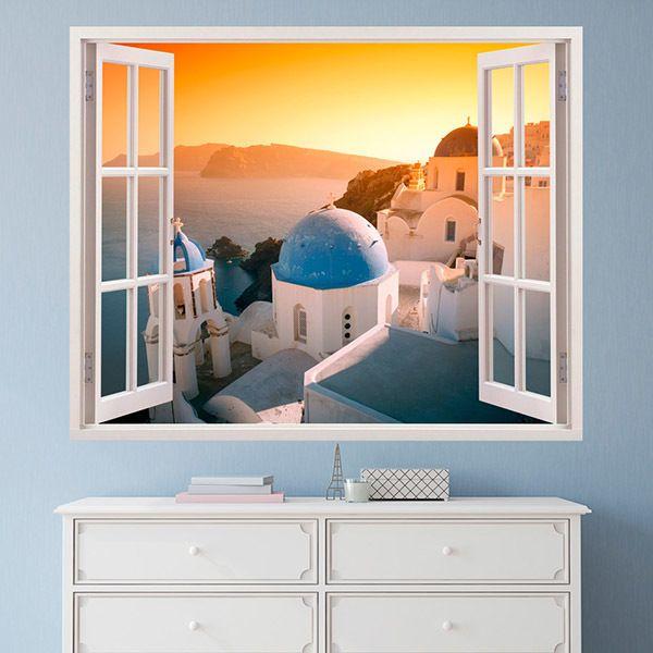 Vinilos Decorativos: Puesta de sol en Santorini