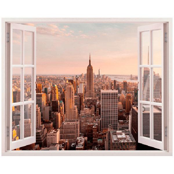 Vinilos trampantojos de ventanas for Vinilos pared new york