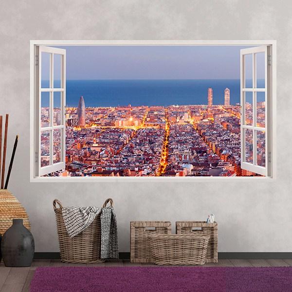 Vinilos Decorativos: Panorámica de Barcelona