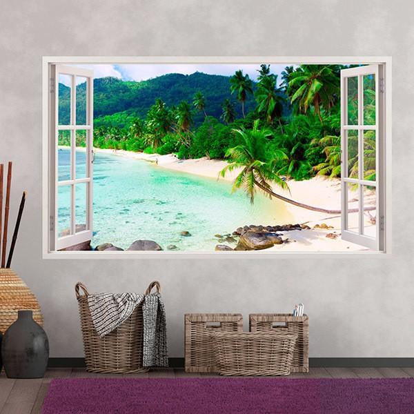Adhesivos decorativos para pared en teleadhesivo for Vinilos pared paisajes