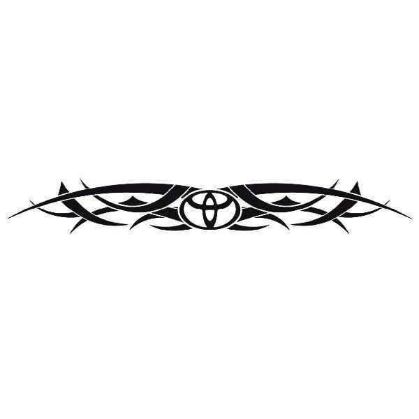 Pegatinas: Parasol Logo Toyota