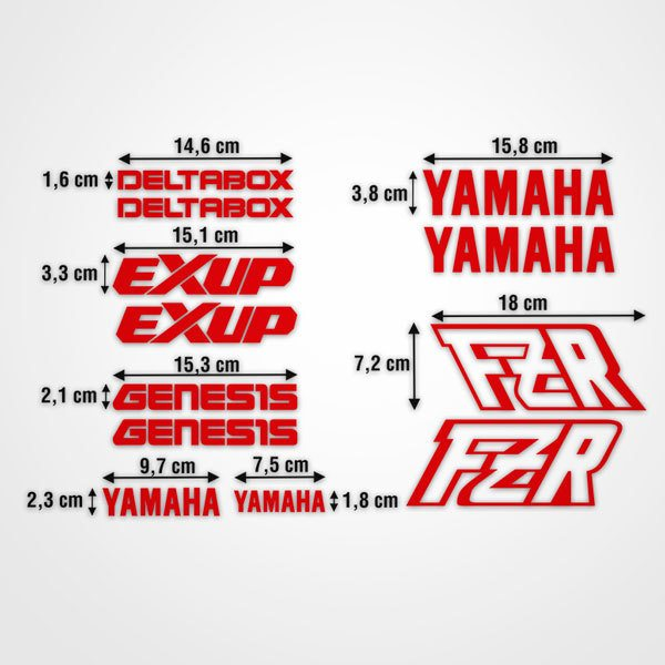 Pegatinas: kit Yamaha FZR
