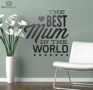 La mejor mamá del mundo.