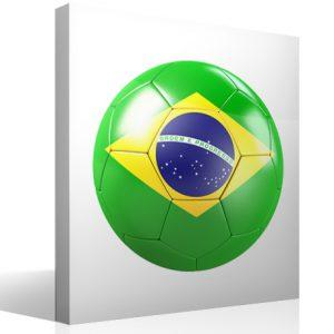 Balón con bandera de Brasil.