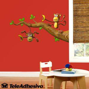vinilos-infantiles-dos-monos-jugando-en-una-rama