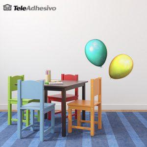 vinilos-infantiles-globos-turquesa-y-amarillo