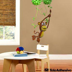 vinilos-infantiles-mono-jugando-en-la-liana