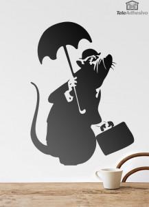 vinilos-decorativos-rata-con-paraguas-de-banksy