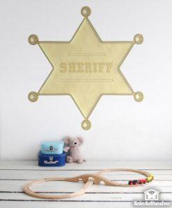 vinilos-infantiles-la-estrella-del-sheriff