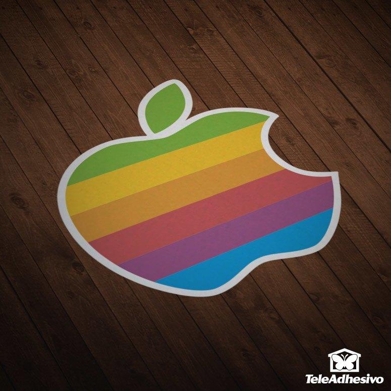 Vinilo adhesivo al estilo vintage con la imagen del logotipo antiguo de Apple, ideal para decorar una casa