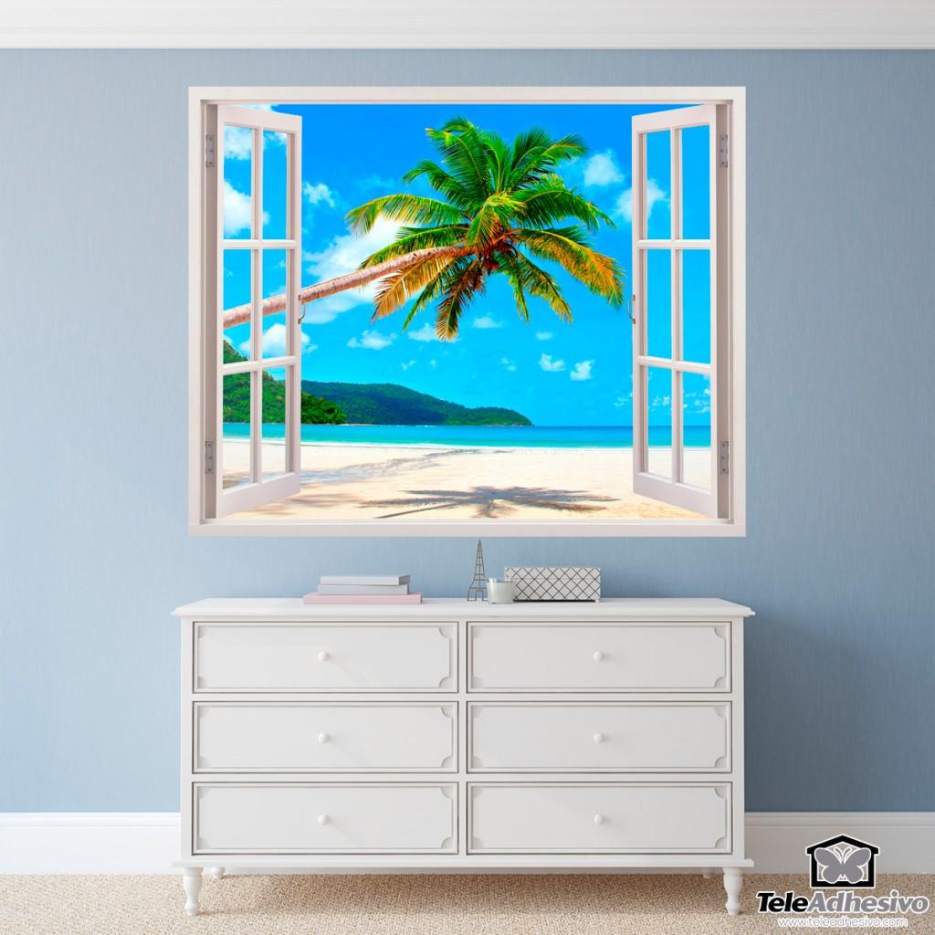 Vinilo adhesivo con la imagen de una playa paradisíaca ideal para decorar tu casa con paisajes exóticos.