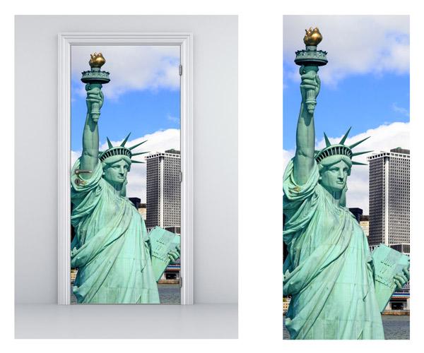 Vinilo adhesivo con la imagen de la Estatua de la Libertad para decorar tu casa y las puertas de las habitaciones.