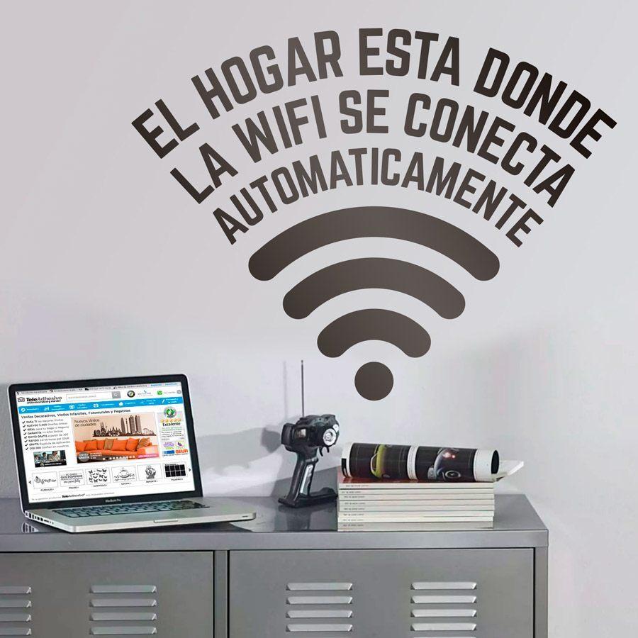 Un vinilo adhesivo con un mensaje sobre la necesidad de la conexión a Internet, ideal para la decoración de interiores.