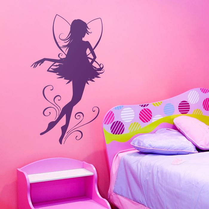 vinilo adhesivo con la imagen de un hada ideal para decorar dormitorios juveniles
