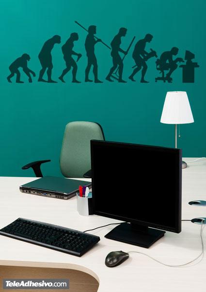 Vinilo adhesivo con una imagen cómica de la evolución humana para decorar paredes