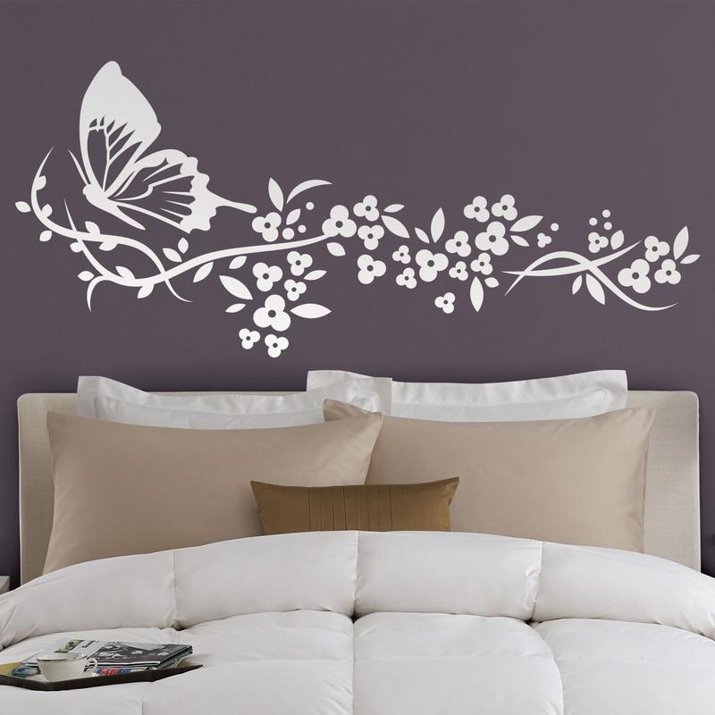 vinilos-decorativos-mariposa-y-floral