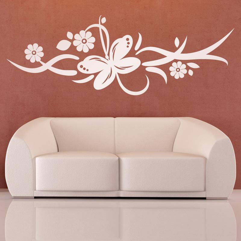 vinilos-decorativos-mariposa-y-3-flores