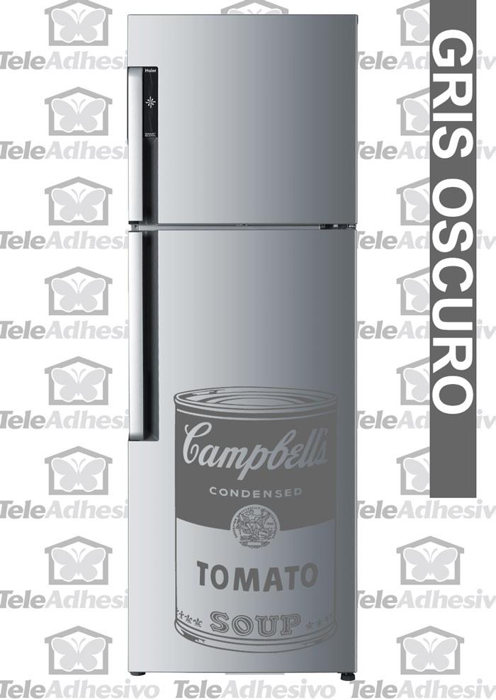 Nevera con vinilo de lata Campbell's - TeleAdhesivo