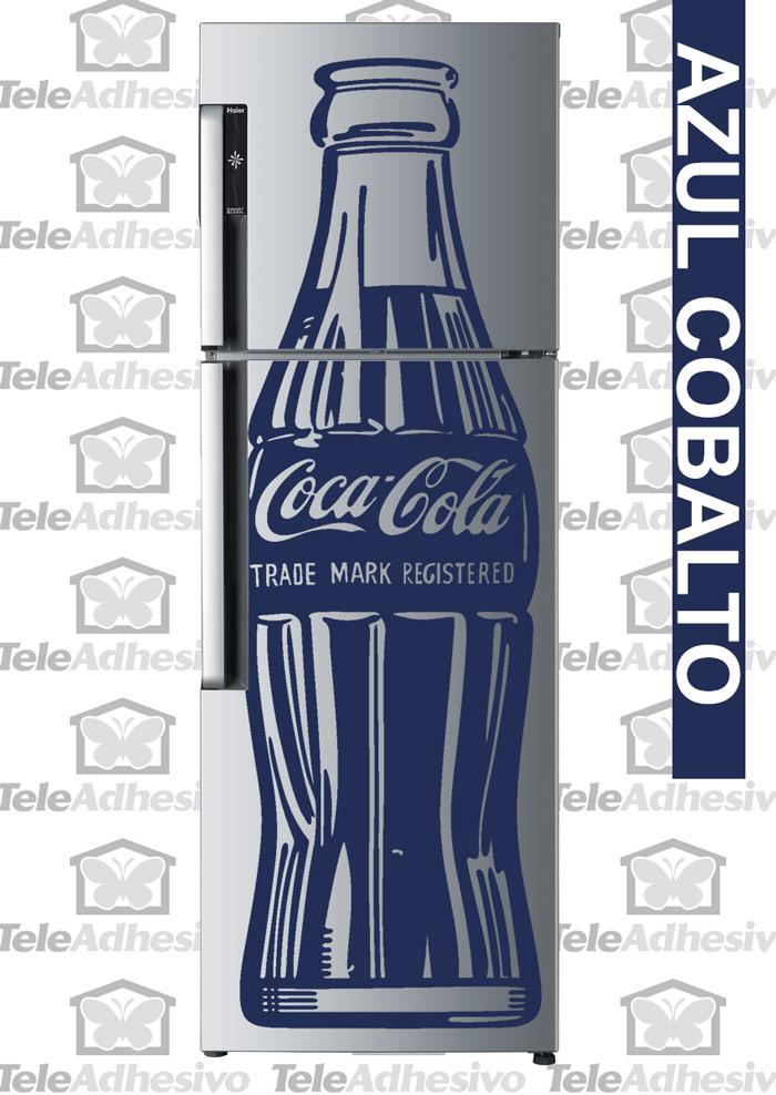 Nevera con vinilo de CocaCola - TeleAdhesivo