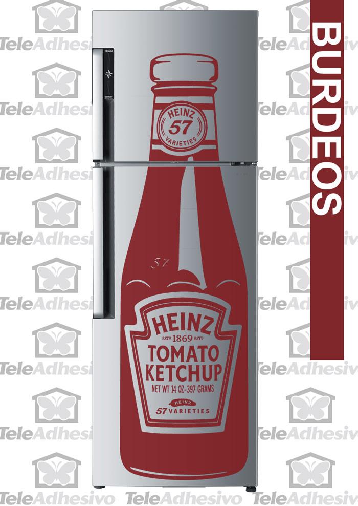 Nevera con vinilo de Ketchup Heinz - TeleAdhesivo