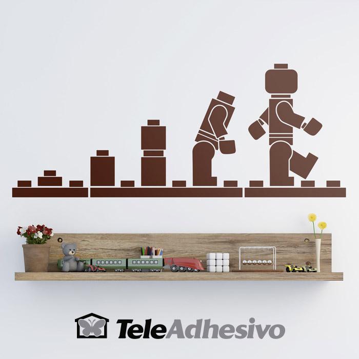 Vinilo de pared evolución de Lego