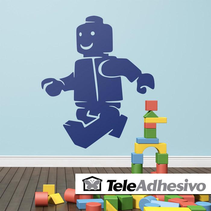 Vinilo de pared figura Lego