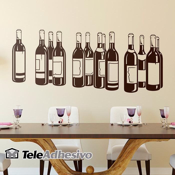Vinilo botellas de vino
