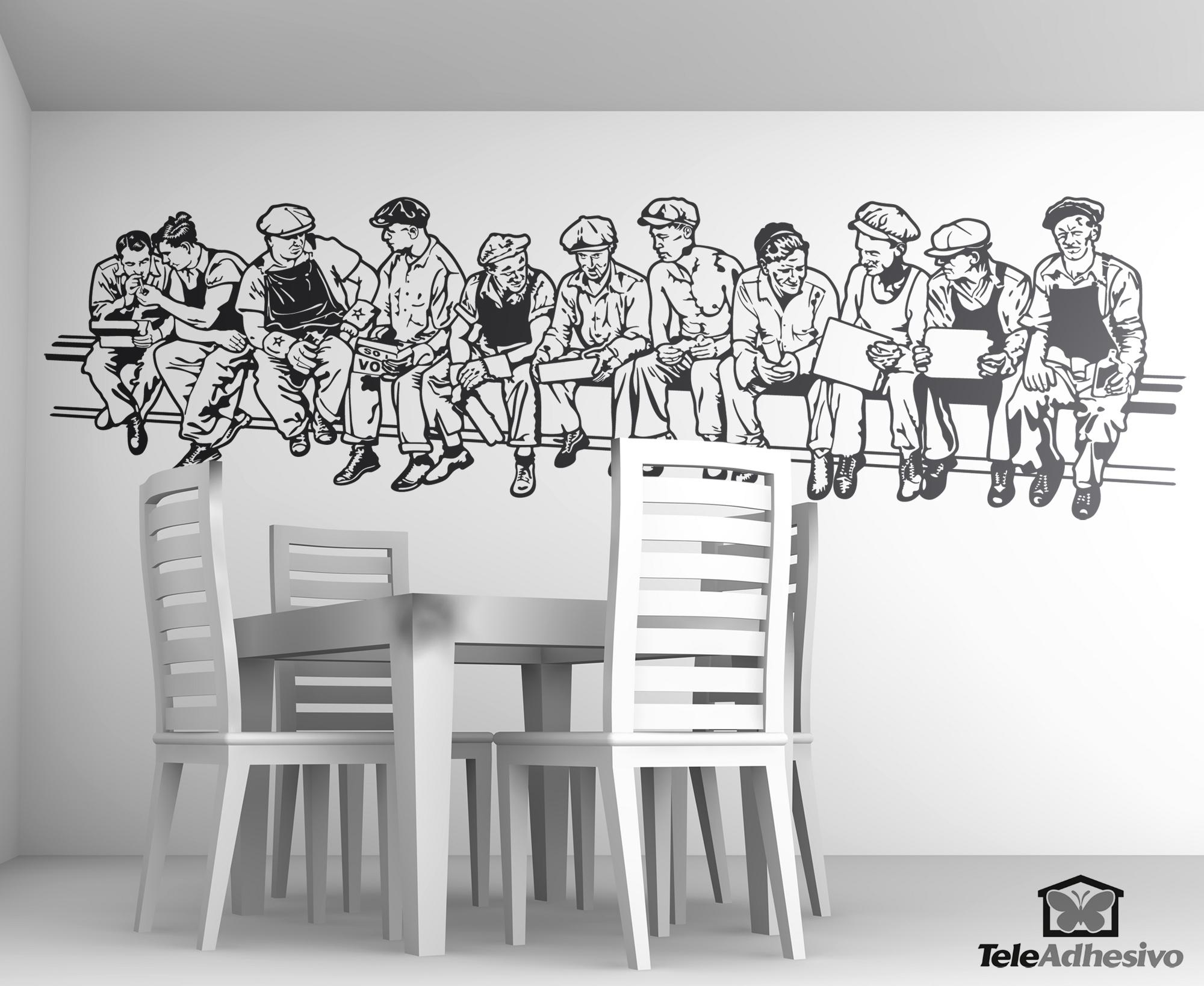 Vinilo decorativo los hombres de la viga blog teleadhesivo for Vinilos para chicos