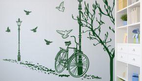 vinilos-decorativos-otono-en-bicicleta