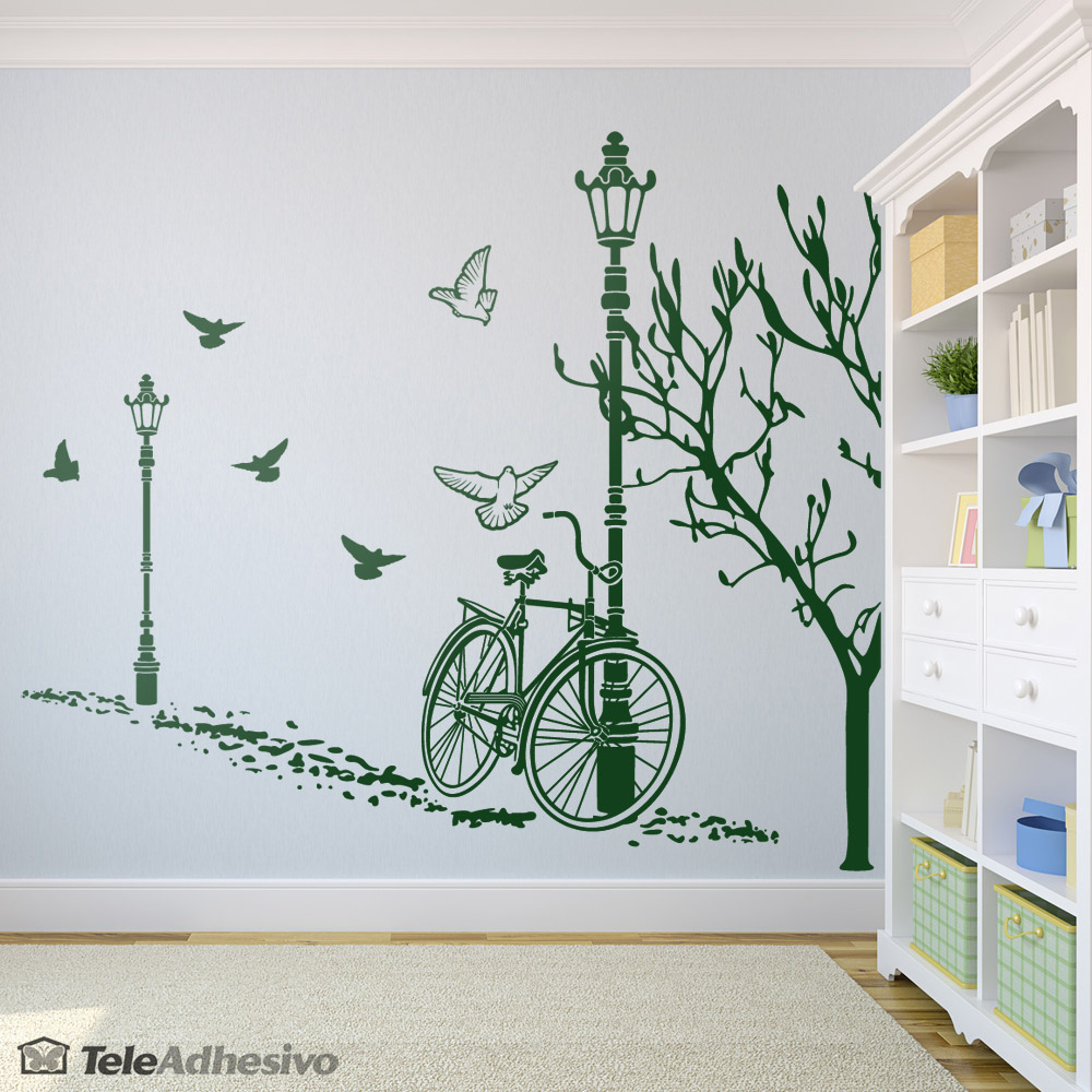 Vinilo decorativo oto o en bicicleta blog teleadhesivo for Vinilos decorativos pared habitacion