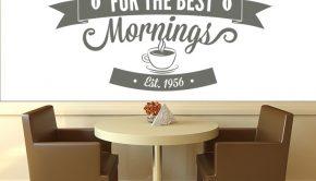 Una cafetería a primera hora de la mañana