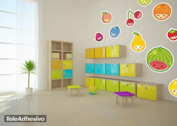 Simp ticas frutitas animadas blog teleadhesivo for Como pintar un mural infantil
