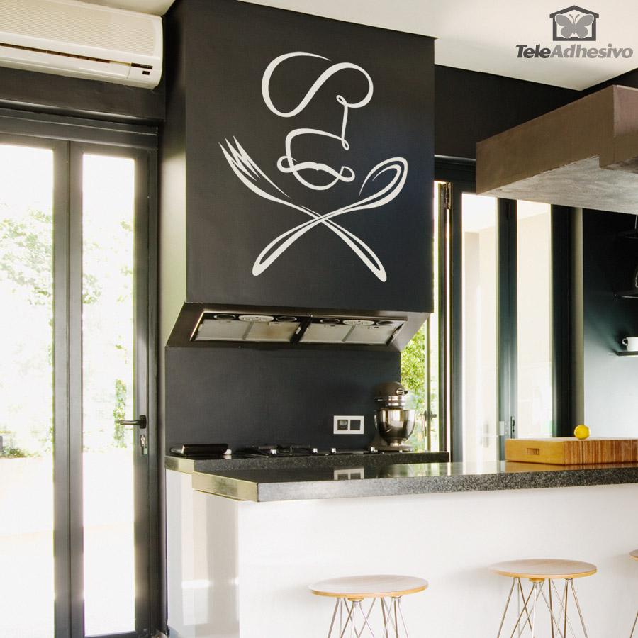 Un vinilo para la cocina de tu restaurante con un - Papel de vinilo para cocinas ...