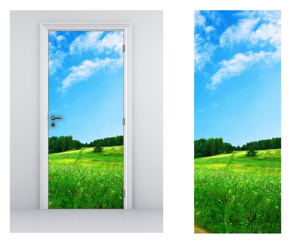 Vinilo para puertas con imagen relajante y campestre - Puertas con vinilo ...