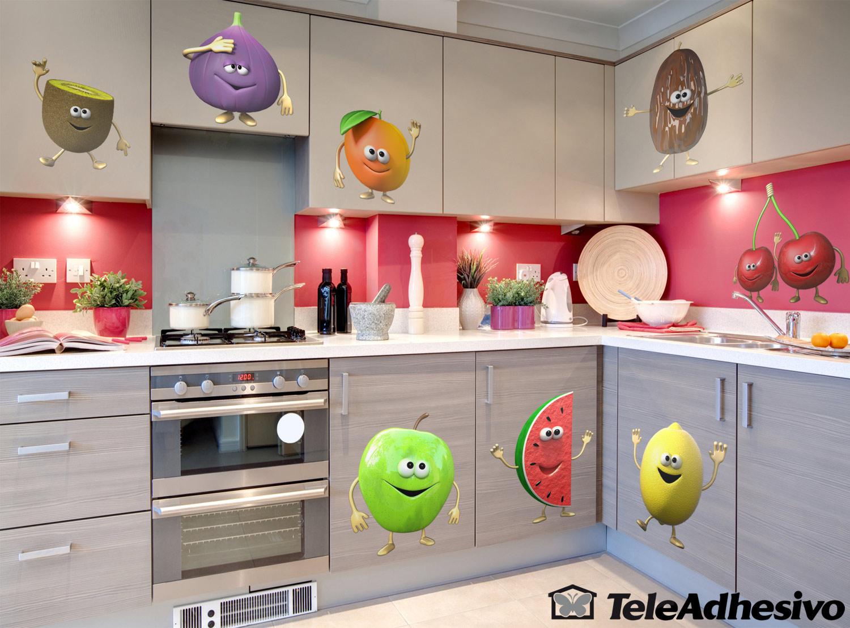 Buenos h bitos alimenticios frutas en la cocina - Cenefas de vinilo para cocinas ...