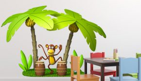 vinilos-infantiles-mono-tocando-las-congas